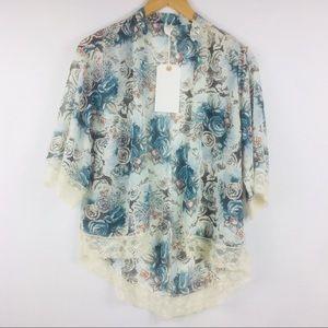 XS Wild Pearl Lightweight Blazer Short Kimono